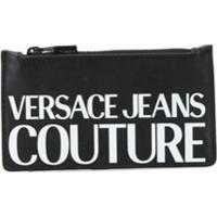 Versace Jeans Couture Porta-Cartões Com Estampa De Logo - Preto