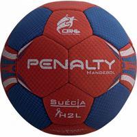 Bola De Handebol Penalty Suécia H2L Ultra Grip Azul/Vermelho