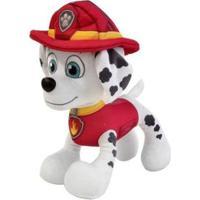 Pelúcia Patrulha Canina Marshall - Unissex-Vermelho+Branco