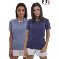 Kit 2 Polos Femininas Lagoon Tigs - Roxo E Lilás-M