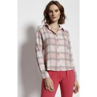 c1052ae9fc Camisa Xadrez - Rosa   Preta - Estilo Hestilo H