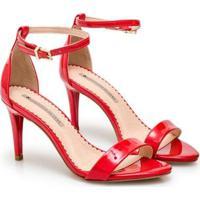 Sandália Sapatinho De Luxo Verniz Red Carpet Feminina - Feminino-Vermelho