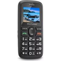"""Celular Vita Dual Chip Tela 1,8"""" Usb E Bluetooth Preto Multilaser"""