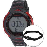 Monitor Cardíaco Com Cinta Speedo 80621G0Ev - Preto/Vermelho