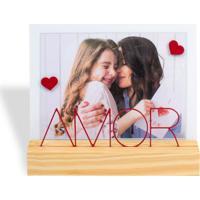 Porta Retrato 13X18 Amor Branco E Vermelho