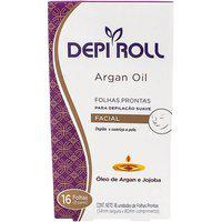 Folhas Para Depilalacão Facial Depi Roll Argan Oil 16 Unidades