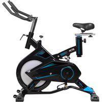Bicicleta Ergométrica Para Spinning Pro Preta E Azul E17 Acte
