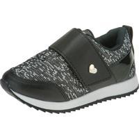Tênis Jogging Joys Shoes Casual Elástico Velcro Preto