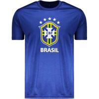 Camisa Do Brasil Logo 2018 Azul - Masculino