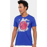 Camiseta Adidas Us Graphic Masculina - Masculino-Marinho
