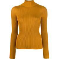Versace Blusa Medusa Canelada - Amarelo