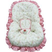 Capa De Bebe Conforto Floral Atelie Baby E Cia Rosa