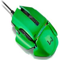 Mouse Gamer Usb Multilaser Warrior Armor 54 Combinações 8200 Dpi 8 Botões Mo247 - Unissex