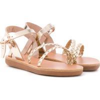 Ancient Greek Sandals Sandália Trançada Little Afrodite - Dourado