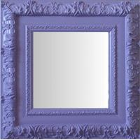 Espelho Moldura Rococó Externo 16355 Lilás Art Shop