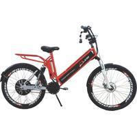 Bicicleta Elétrica Duos Confort Full 800W 48V 15Ah Cor Cereja