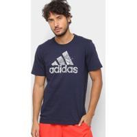 Camiseta Adidas Mh Bos Graph Masculina - Masculino-Marinho