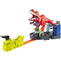 Pista De Percurso E Veículo - Hot Wheels City - T-Rex Demolidor - Mattel