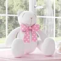 Urso Branco Laã§O Rosa Poã¡ 34Cm Grã£O De Gente Rosa - Rosa - Menina - Dafiti