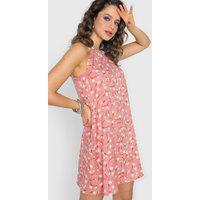 Vestido Forever 21 Curto Floral Rosa/Amarelo