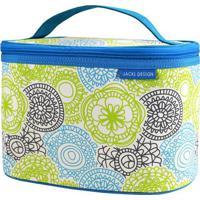Nécessaire Frasqueira Com Tag- Azul & Bege- 15X24X16Jacki Design