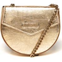 Bolsa Transversal Ellus Pequena Dourada