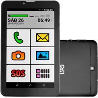 Tablet Smartphone Obatablet 1Gb 8Gb Obabox By Multilaser Preto