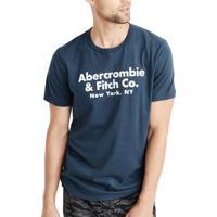 Camiseta Abercrombie & Fitch Masculina Co. New York Azul