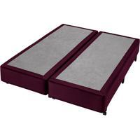 Base Para Cama Box Queen Classic (38X158X198) Vinho