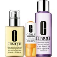 Kit Clinique 1 Booster Diário 8.5Ml + 1 Hidratante Dramatically 125Ml + 1 Demaquilante 125Ml - Unissex-Incolor