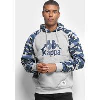 Blusão Moletom Kappa Authentic Greco 2.0 Masculino - Masculino-Grafite