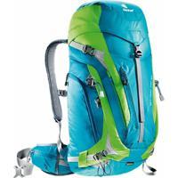 Mochila Cargueira Para Hiking 34 Litros Act Trail Pro 34 Deuter - Unissex-Azul+Verde