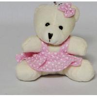 10 Chaveiros Mini Ursinhos Rosa