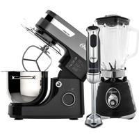 Kit Black Premium Batedeira Liquidificador Mixer Oster 127V