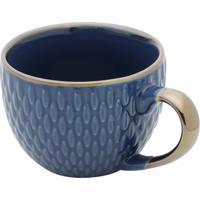 Conjunto 6 Xícaras De Porcelana P/Café Sahali Azul 90Ml