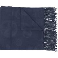 Emporio Armani Echarpe Com Logo Gravado - Azul