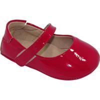 Sapato Boneca Com Tira - Vermelho- Luluzinhaluluzinha