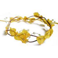 Headband Fuxicos & Frescuras Coroa De Fada Dupla Amarelo