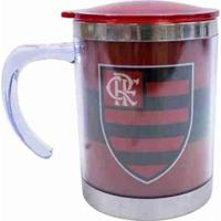 Caneca Térmica Com Tampa 450Ml - Flamengo - Unissex