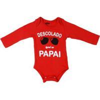 Body Flik Infantil Para Bebê Menino - Vermelho