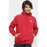 Agasalho Adidas Mts Wvn Masculino - Masculino-Vermelho+Branco