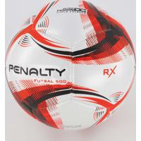 Bola Penalty Rx 500 Ix Futsal Branca E Laranja