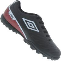 Chuteira Society Umbro Attak Ii - Adulto - Preto/Branco
