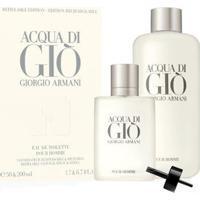 Giorgio Armani Acqua Di Giò Kit - Eau De Toilette 50Ml + Refil Edt 200Ml Kit - Masculino