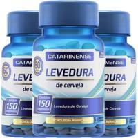 Kit 3X Levedura De Cerveja 150 Cápsulas - Catarinense - Unissex