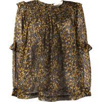 Ba&Sh Blusa Com Estampa Floral - Amarelo