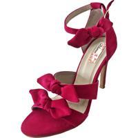Sandália Blume Calçados Effect Fúcsia Rosa