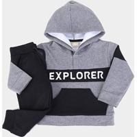 Conjunto Infantil Milon Moletom Explorer Masculino - Masculino