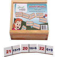 Dominó Educativo Adiçáo Jogo Com 28 Peças - Fundamental