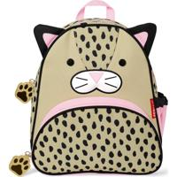 Mochila Infantil Skip Hop Zoo Leopardo Menina - Feminino-Bege+Rosa